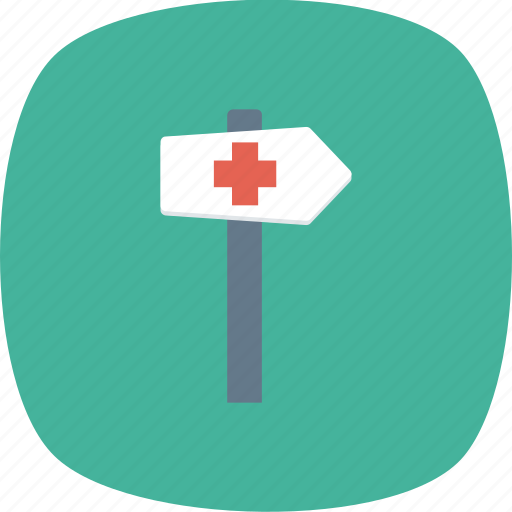 arrow, direction, guidepost, location icon