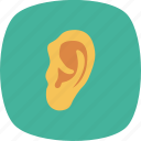 ear, human, listen, medical, sound icon