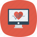 heart, medicine, monitor, pulse icon