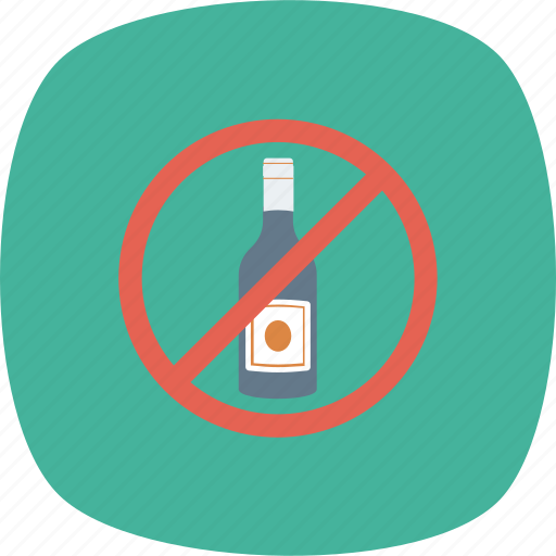 Alcohol, allowed, no, not, restriction icon - Download on Iconfinder
