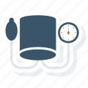 blood, bp, monitor, stethoscope, vitals icon