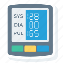 blood, digital, gauge, monitor, pressure, sphygmomanometer icon