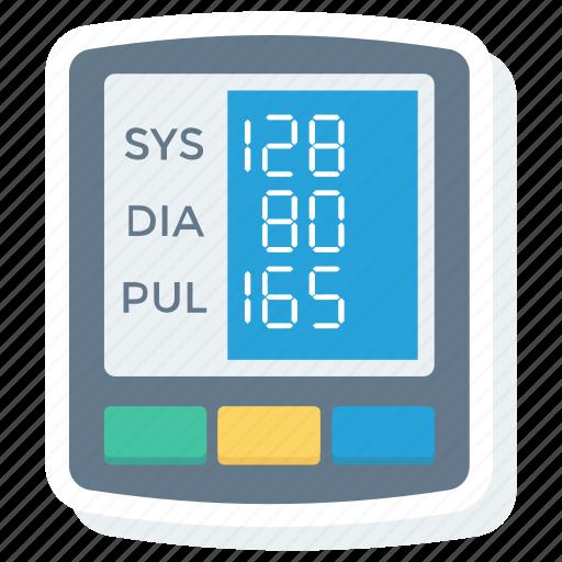 blood, digital, gauge, monitor, pressure, sphygmomanometer icon