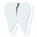 broken, chipped, damage, medical, teeth, tooth icon