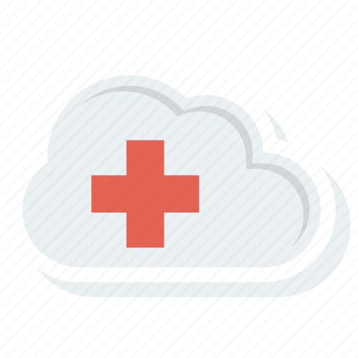 cloud, data, health, healthcare, hospital, medical, storage icon