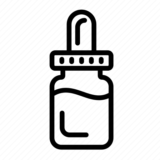 dropper, health, jar, medical, medicine, physic icon