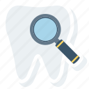dental, dentist, find, search, stomatology, tooth icon