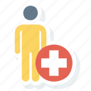 doctor, man, medical, patient, person icon