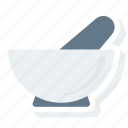 equipment, hospital, instrument, laboratory, medical, mortar, pestle icon