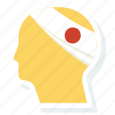 emergency, head, hurt, injured, injury, insurance icon