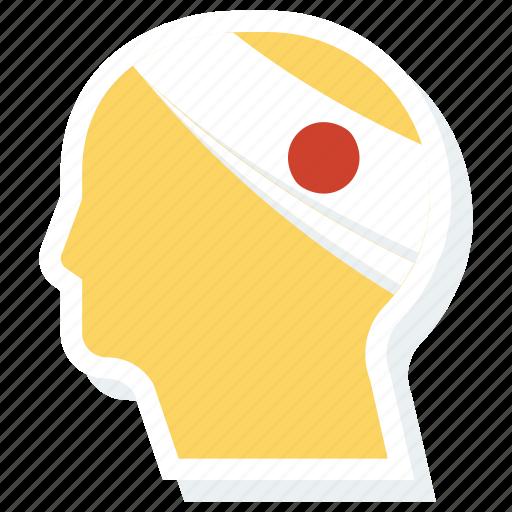 emergency, head, hurt, injured, injury, insurance icon