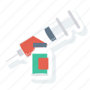 health, injection, injector, medical, medicine, syringe, vaccine icon