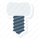 dental, dentist, inplant, root, teeth, tooth, treatment icon