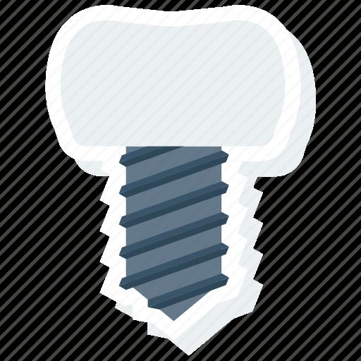 dental, dentist, inplant, root, teeth, tooth, treatment icon