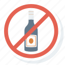 alcohol, allowed, no, not, prohibition icon