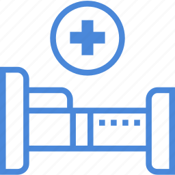 bed, care, hospital, medical icon