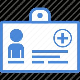 card, care, data, hospital, id, medical icon