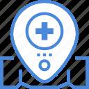care, hospital, location, medical icon