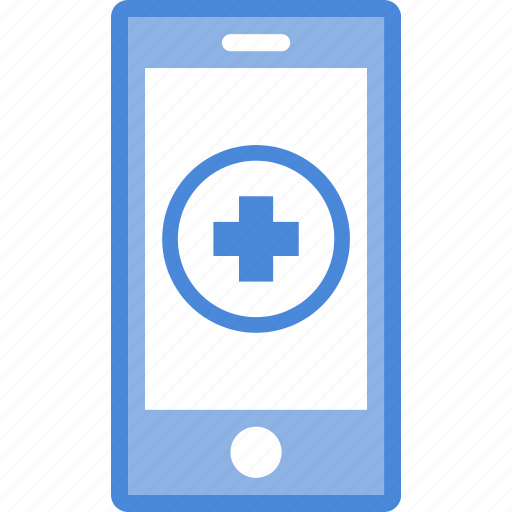 application, care, hospital, medical, mobile, phone icon