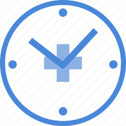 care, clock, heart, hospital, medical, medicine, time icon