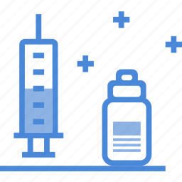 care, hospital, medical, medicine, syringe, vaccine icon