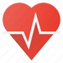 cardio, health, heart, rate, report icon