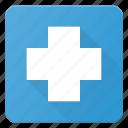sigh, clinic, hospital, emergency, mark icon