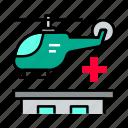 ambulance, emergency, helicopter
