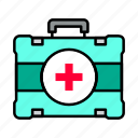 first aid, kit, medical icon