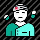 hospital, patient, treatment icon