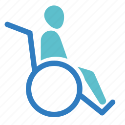 disability, disable, handicap, medical, old, patient, wheelchair icon