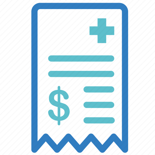 bill, fee, health insurance, hospital, medical, medical fee, treatment fee icon