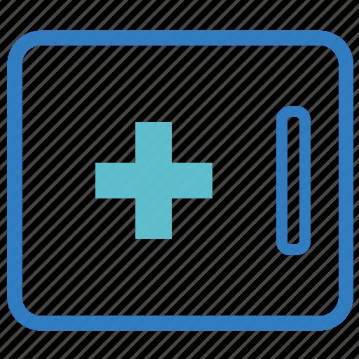 first aid, healthcare, medical, medical set, medicine, medicine cupboard, medicine kit icon