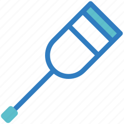 cane, crutch, disability, medical, medical equipment, medical tool, walker icon