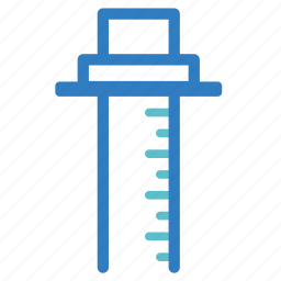 fitness, height, height gage, measure, measurement, meter, ruler icon