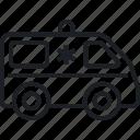 ambulance car, doctor, hospital, medical instruments icon
