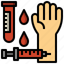 and, blood, healthcare, medical, sample, test, testing icon