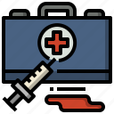 aid, and, doctor, first, health, healthcare, kit icon