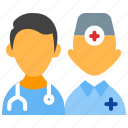 doctors, healthcare, hospital, medical personnel, pediatrician icon