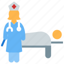 clinic, hospital bed, hospital room, hospital ward, patient bed, treatment icon