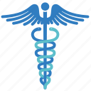 caduceus, care, health, healthcare, healthy, hospital, medical icon