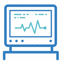 cardiogram, ekg, graph, heart rate, medical test, moniter, report icon