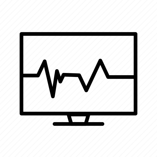 ecg, heart beat, pulse rate icon