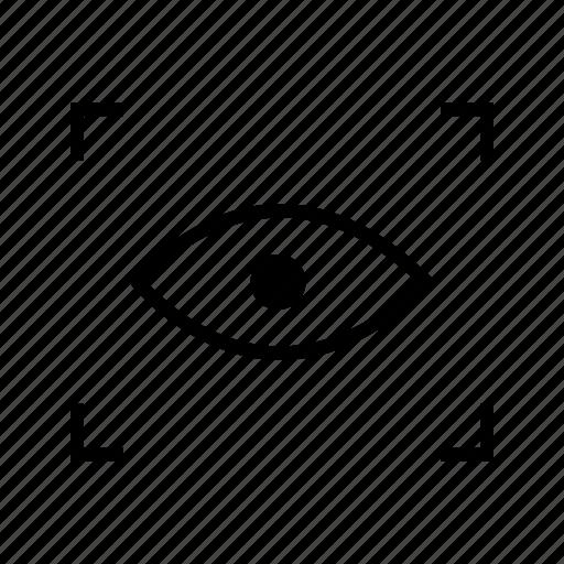 eye scan, iris scan, scan icon