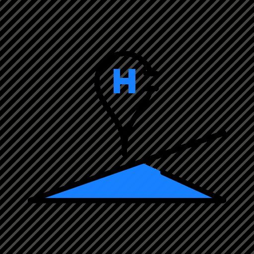 hospital, location, medical icon