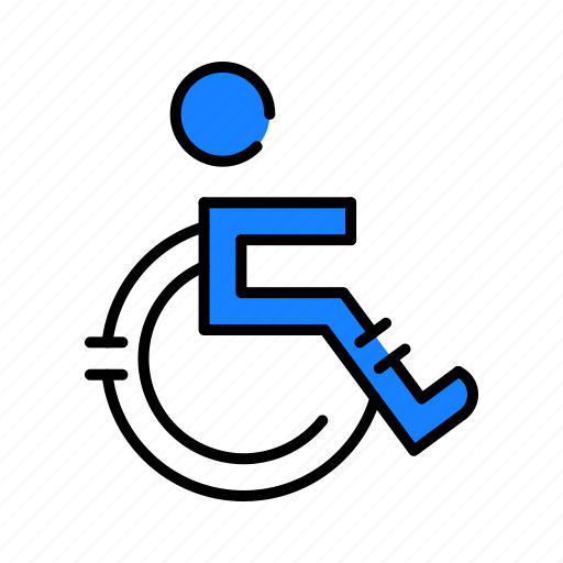 healthcare, medical, wheel chair icon