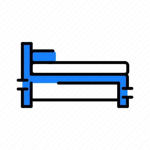 bed, equipment, medical, stretcher icon
