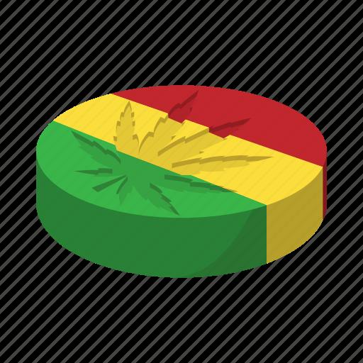 cannabis, cartoon, flag, green, jamaica, leaf, marijuana icon