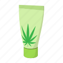 cannabis, cartoon, cream, herb, leaf, marijuana, medical