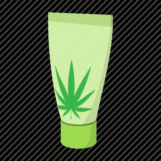 cannabis, cartoon, cream, herb, leaf, marijuana, medical icon